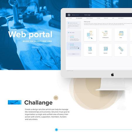 UI/UX for Web portal based on Salesforce CRM solution