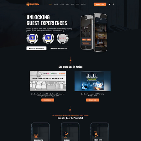 Home Page Design For Openkey