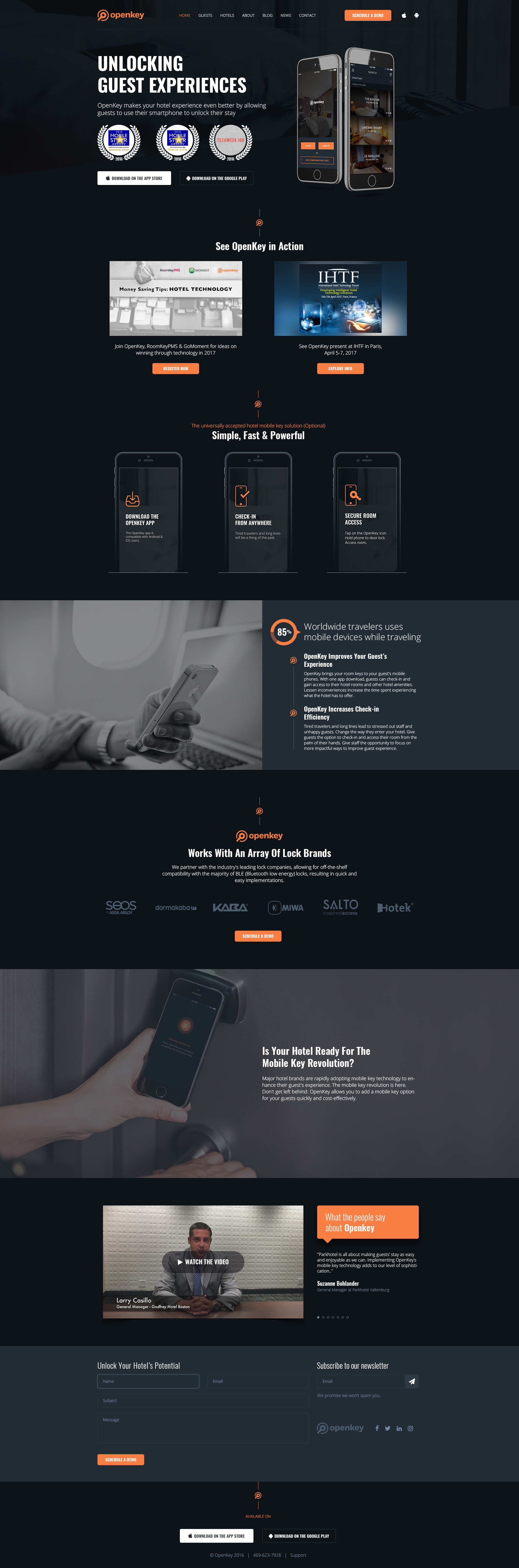 Home Page Design For Openkey by Ajay Mishra - Creative Work