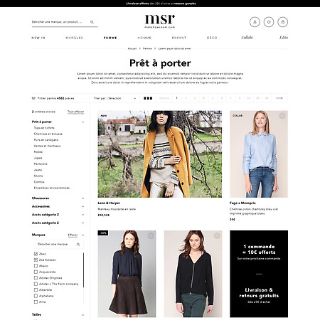 msr - monshowroom - website redesign