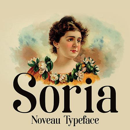 Soria - Free noveau font