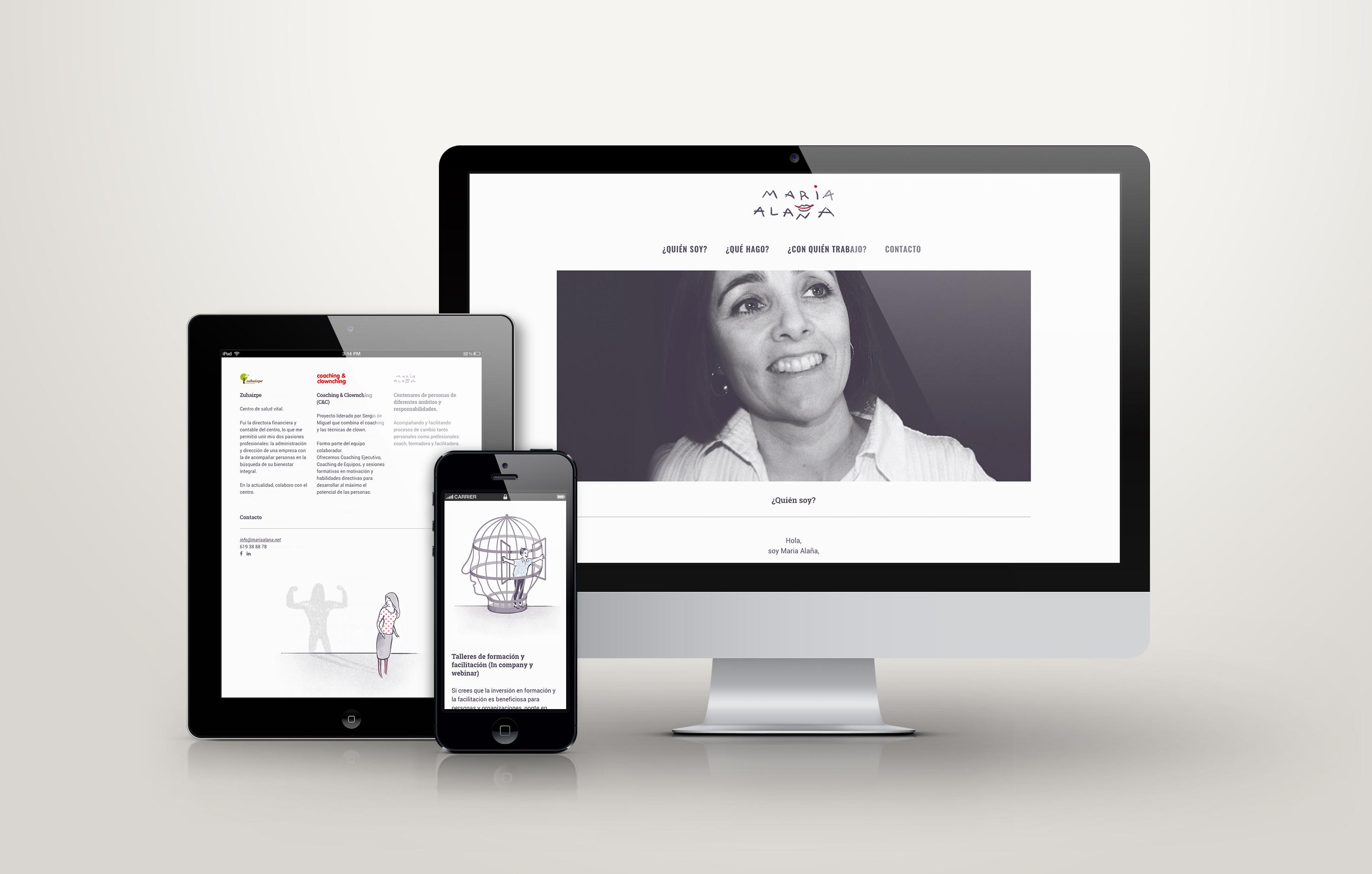 Web Maria Alaña, coach by Nagore M. Jauregi - Creative Work