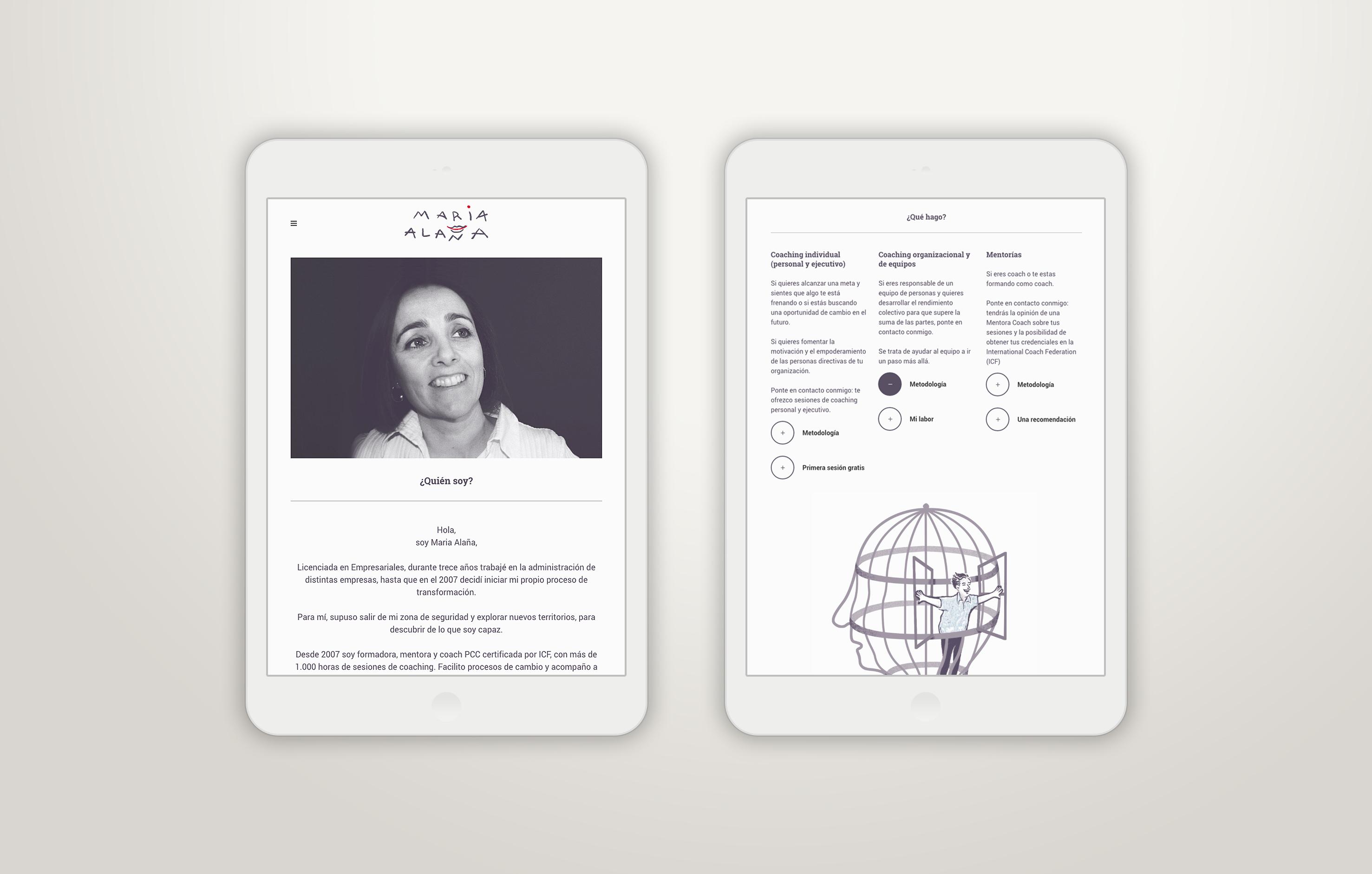 Web Maria Alaña, coach by Nagore M. Jauregi - Creative Work - $i