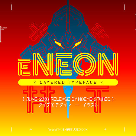 eNeon Layered Typeface