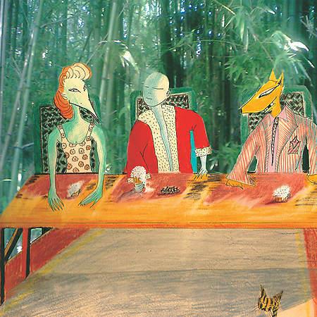 O rei azul à mesa - O gato riscado