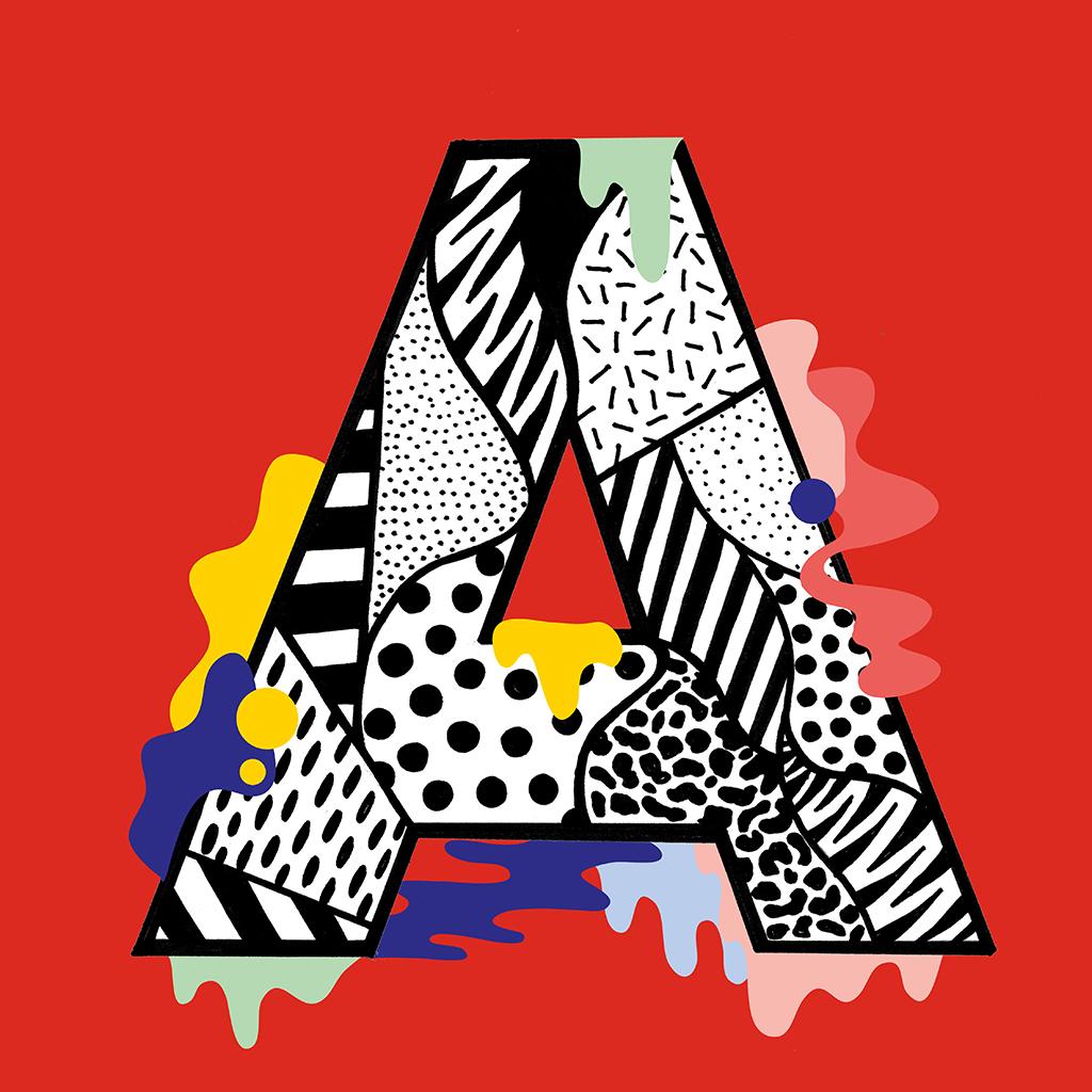 Drippy Alphabet by Casiegraphics - Creative Work