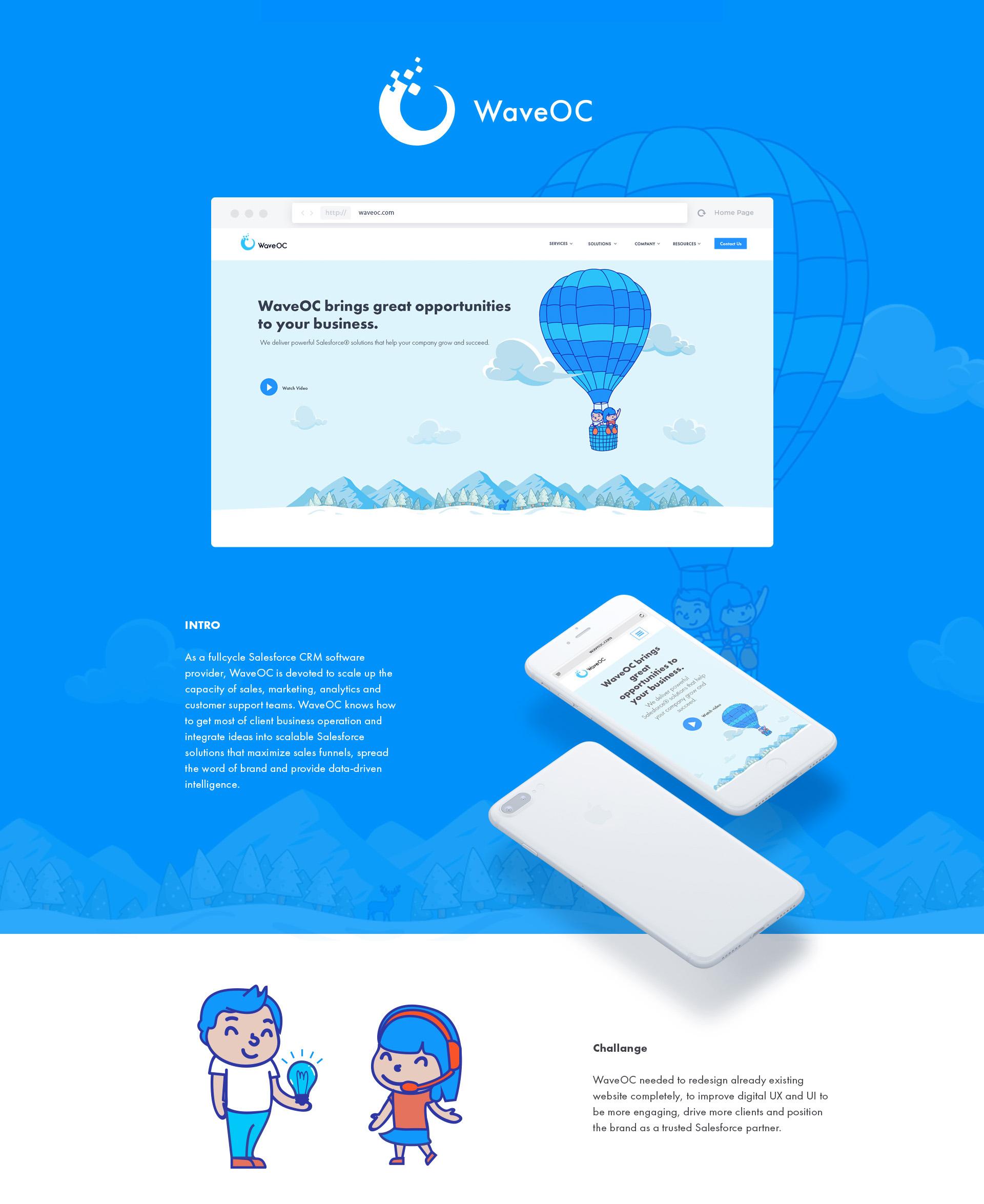 WaveOC Corporate Website Redesign by Tetiana Donska / Ester Digital - Creative Work