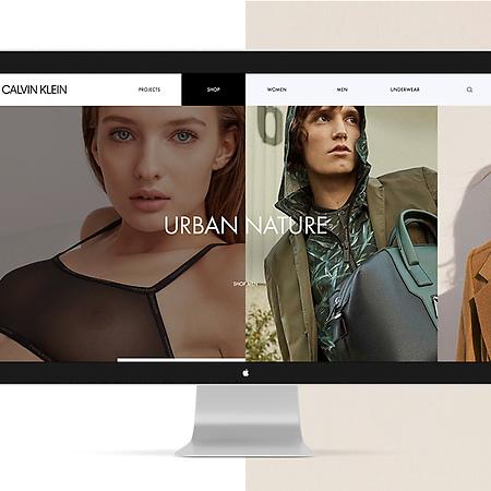 Calvin Klein Website Redesign Concept