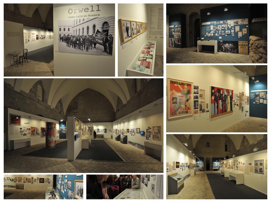 Orwell toma café en Huesca - Exposición by Marta Ester / Nodográfico - Creative Work