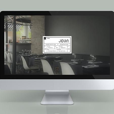Jova Construction Web Design