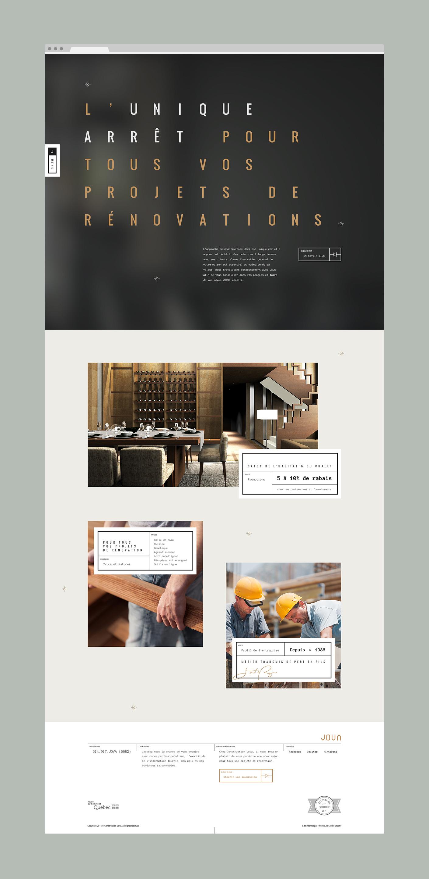 Jova Construction Web Design by Phoenix The Creative Studio - Creative Work - $i