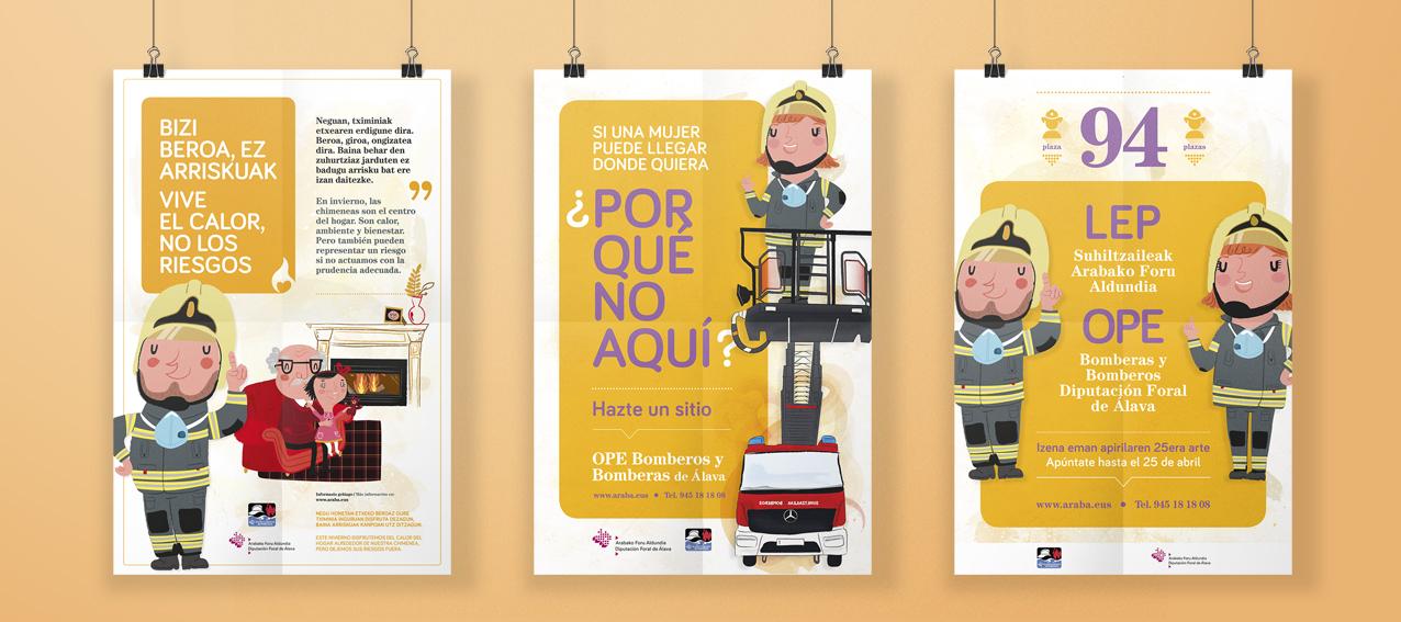 Campaña global bomberos diputación álava by Sormen Komunikazioa, S.L. - Creative Work