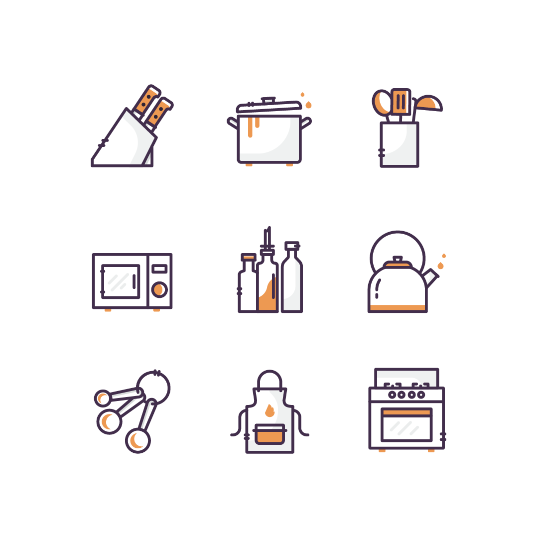 Kitchen Icon Set by Vy Tat - Creative Work