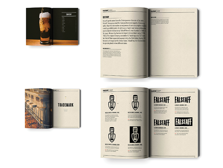 Falstaff Branding Guide by Justice Crisp - Creative Work - $i