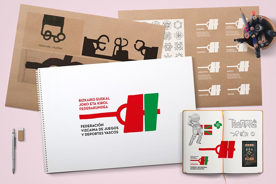 Identidad corporativa Federación Bizkaina de Juegos y Deportes Vascos  by Sormen Komunikazioa, S.L. - Creative Work