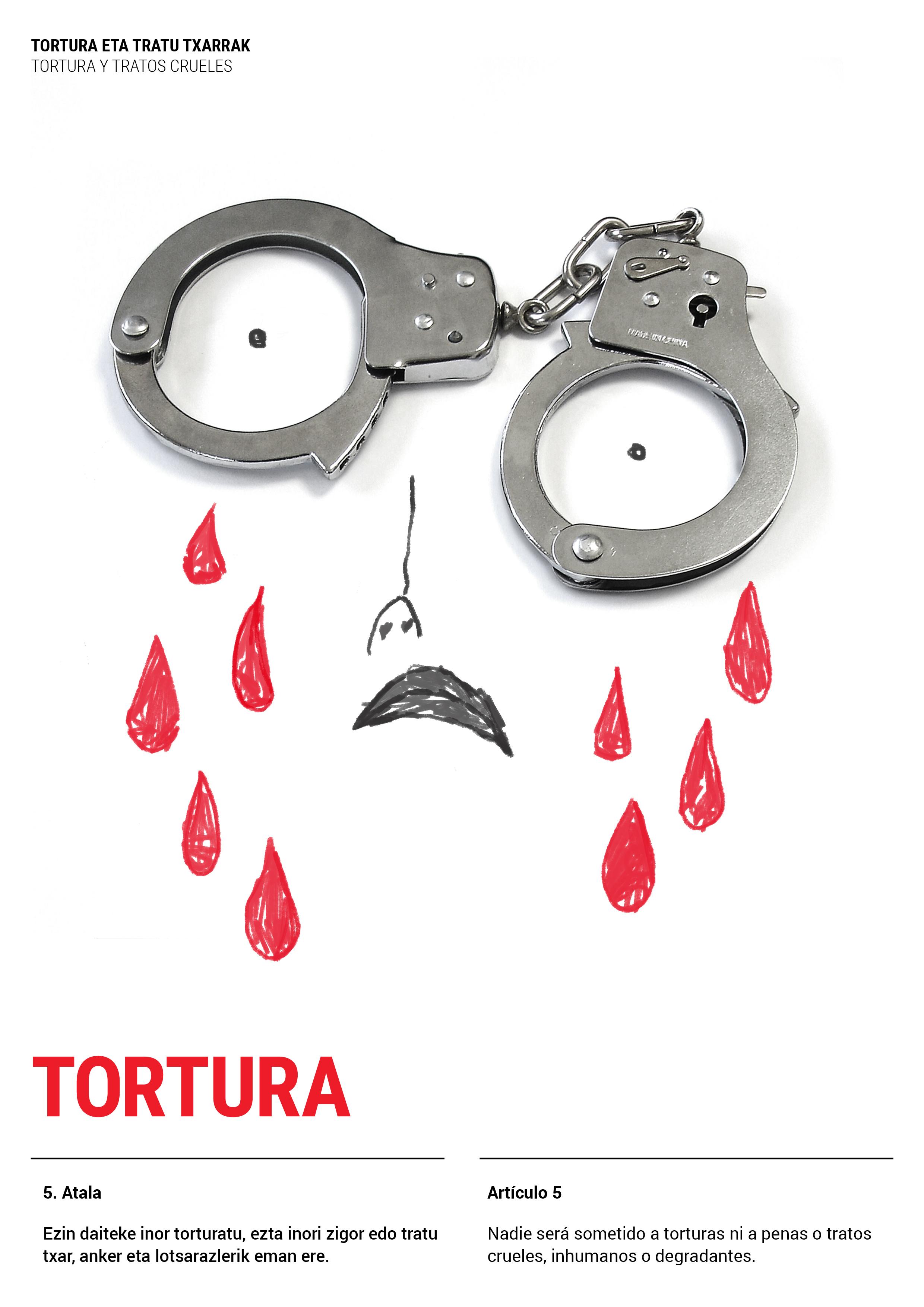 Cartel Tortura. Exposición Derechos Humanos  by Nagore M. Jauregi - Creative Work