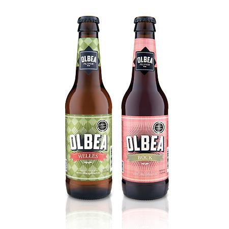 Olbea beer packaging