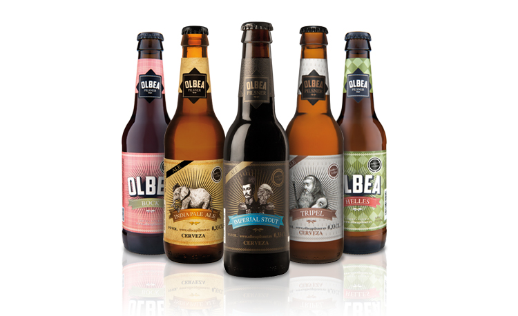 Olbea beer packaging by Inés Elío Lamarca - Creative Work - $i