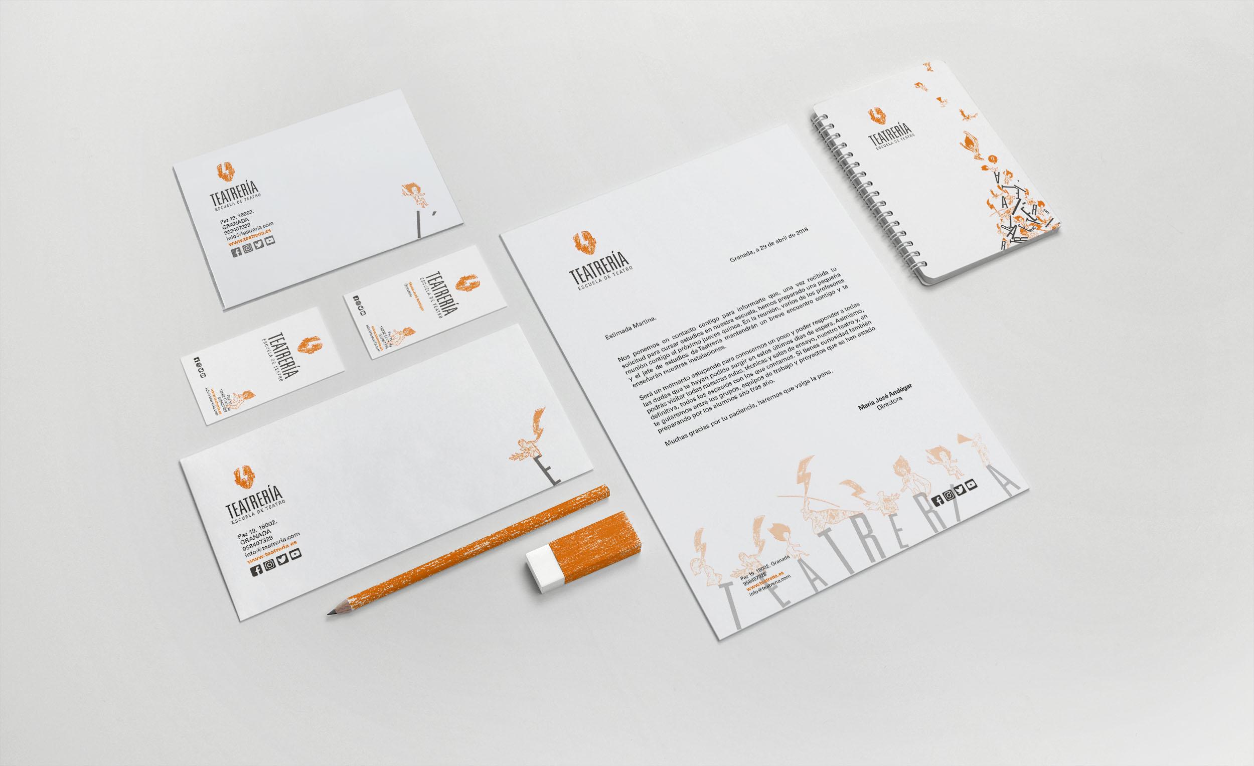 Teatrería. Identidad corporativa de una escuela de teatro. by Antonio Espuch - Creative Work - $i
