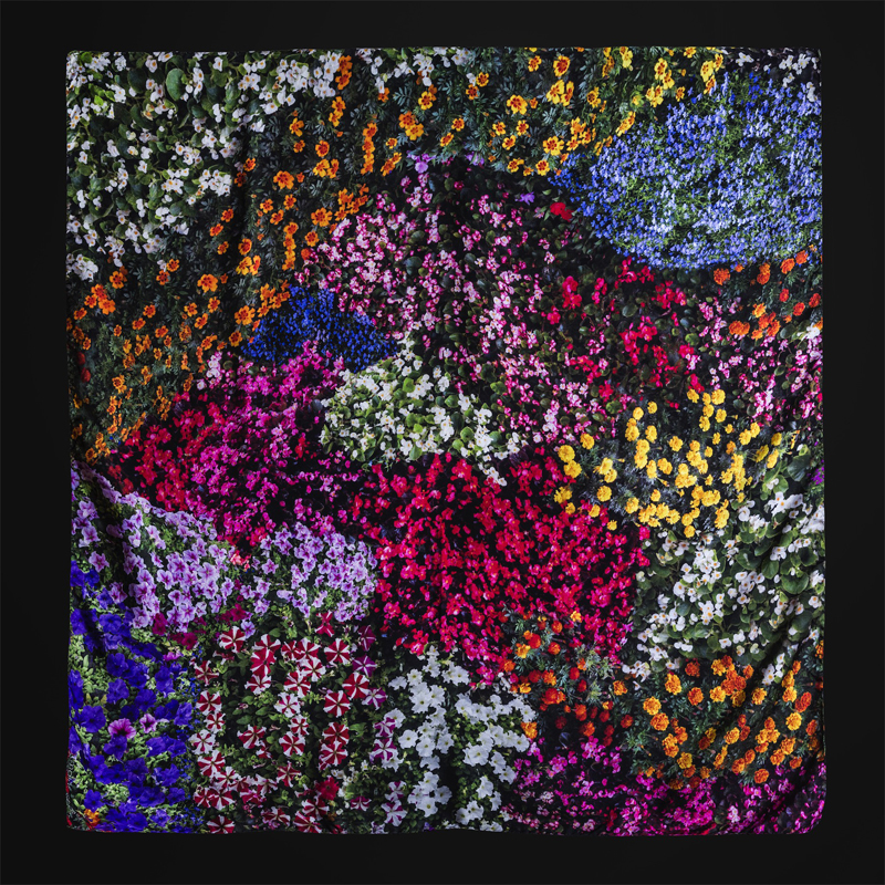 Flores Bilbao silk scarf by Malús Arbide - Creative Work - $i