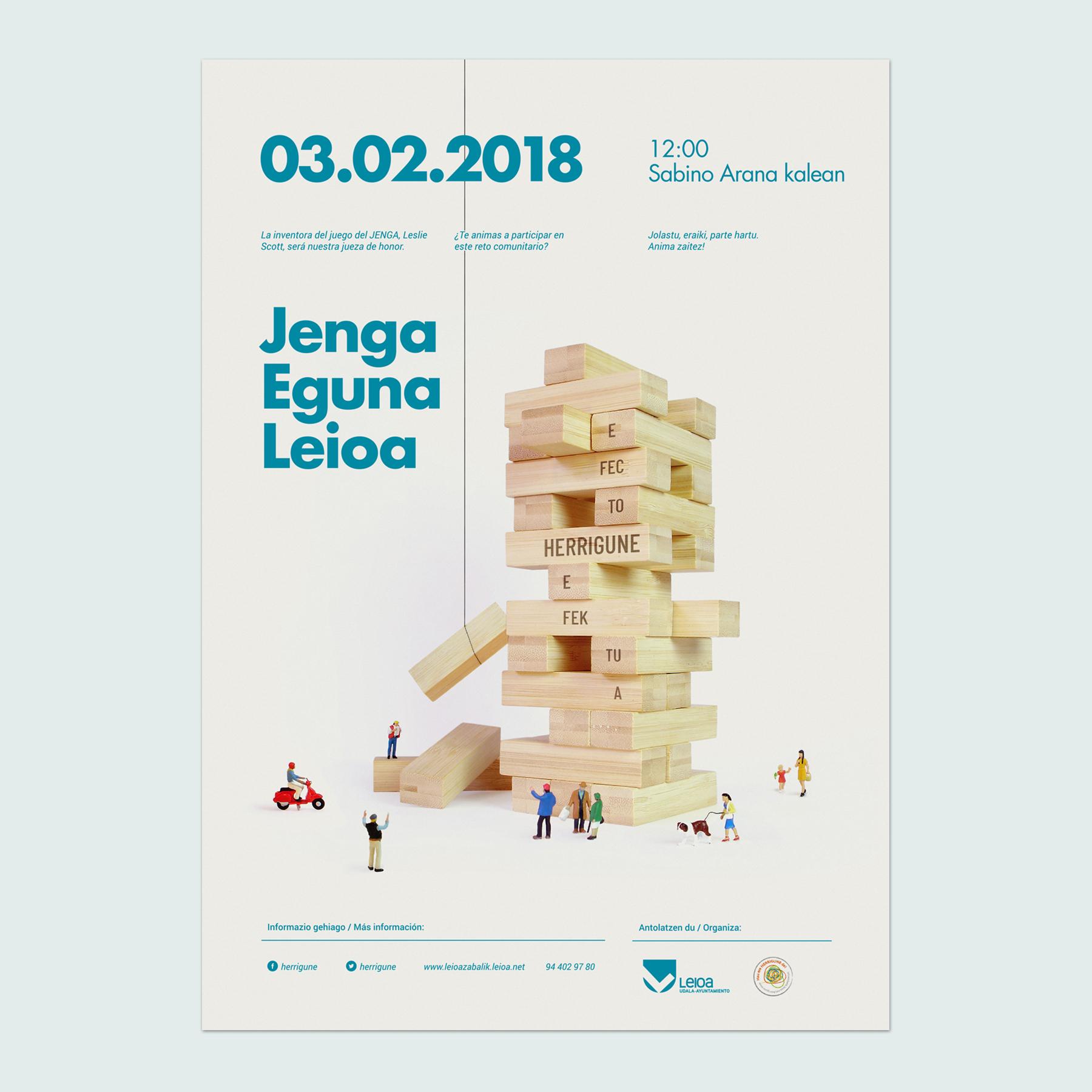 Campaña de comunicación para Leioa Jenga Eguna by Nagore M. Jauregi - Creative Work