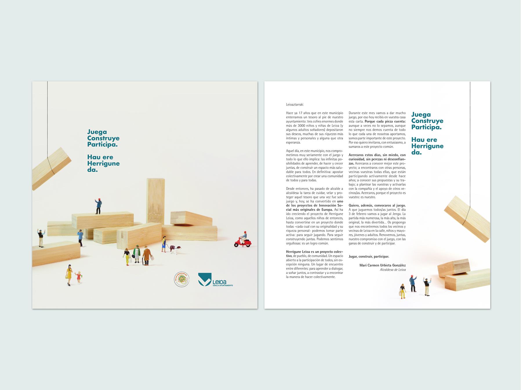 Campaña de comunicación para Leioa Jenga Eguna by Nagore M. Jauregi - Creative Work - $i