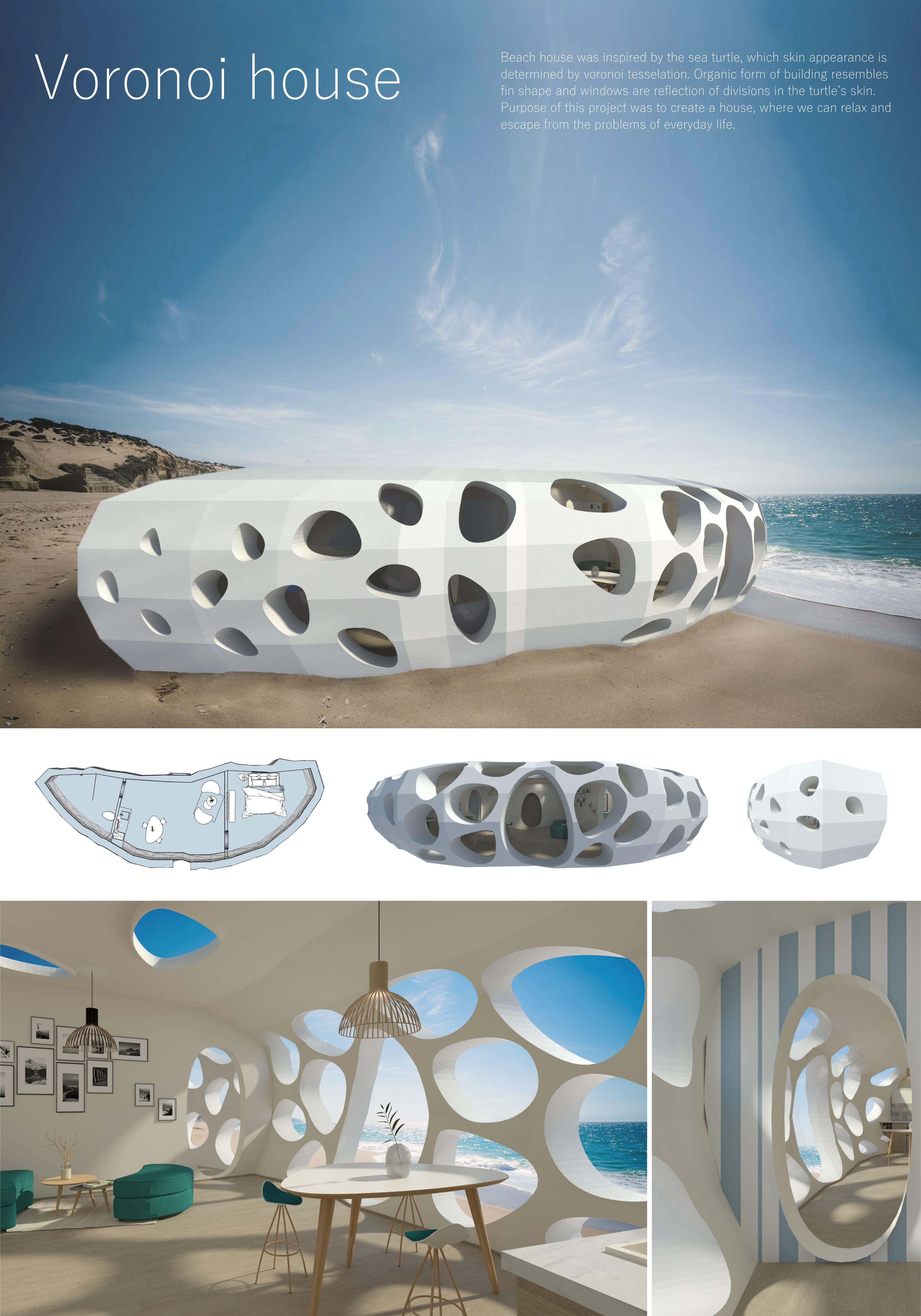 Voronoi house by Weronika Kempińska - Creative Work