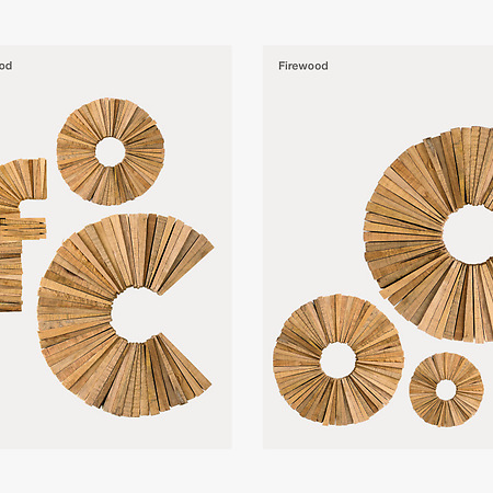Firewood. Experimental Typographic Project