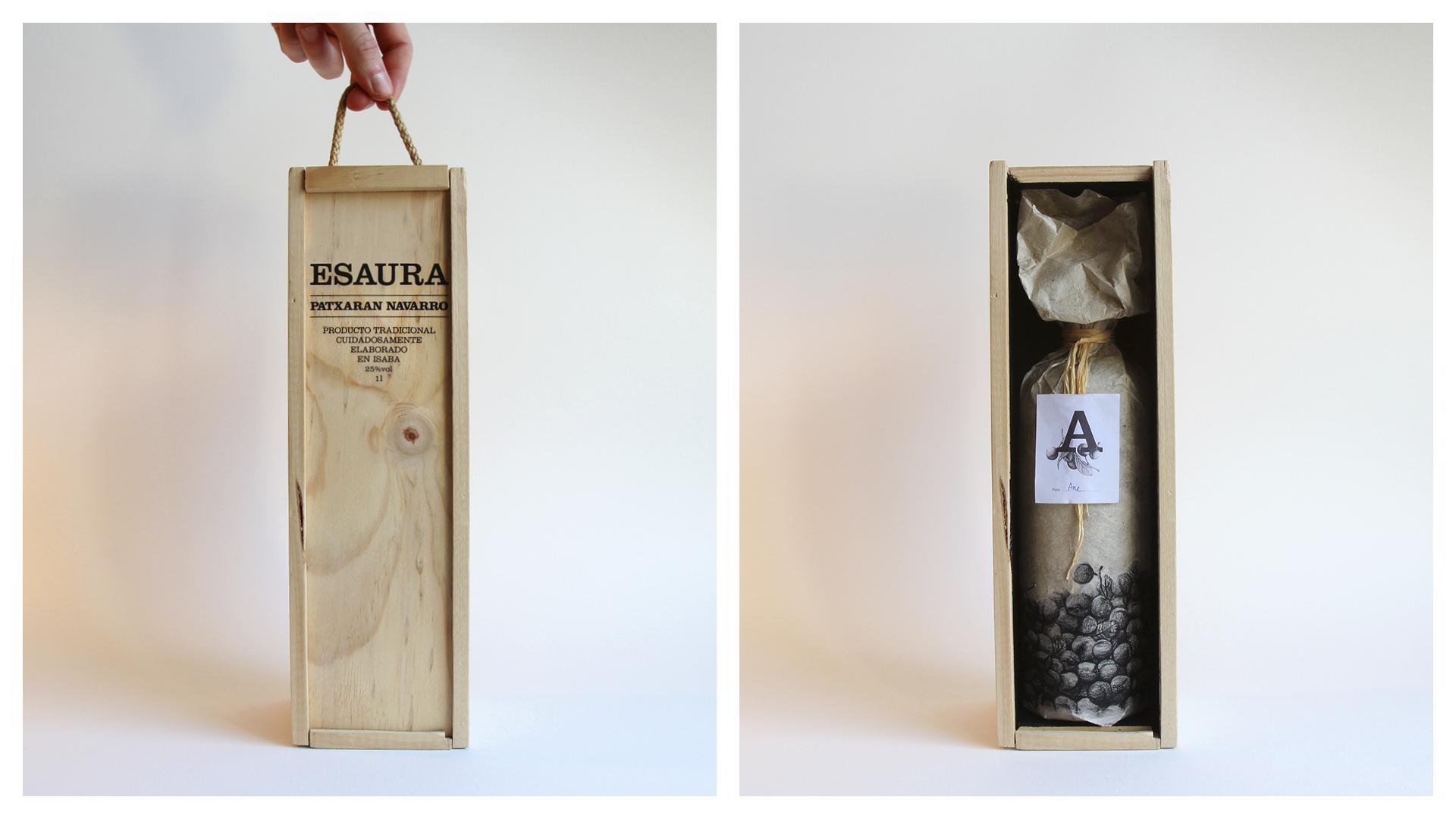 Diseño del packaging para Esaura Patxarana by Ibon Markaida Llorente - Creative Work