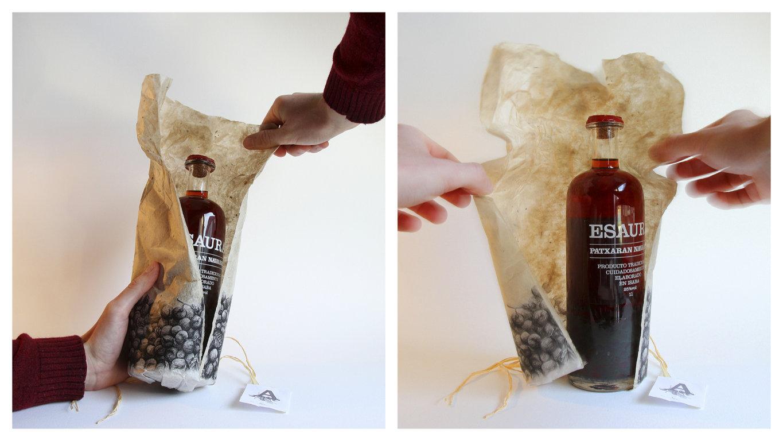 Diseño del packaging para Esaura Patxarana by Ibon Markaida Llorente - Creative Work - $i