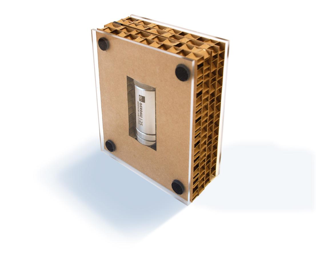 Packaging obsequio evento 25º Aniversario Gerdau Sidenor I+D by aktuart - Mikel Rico - Creative Work