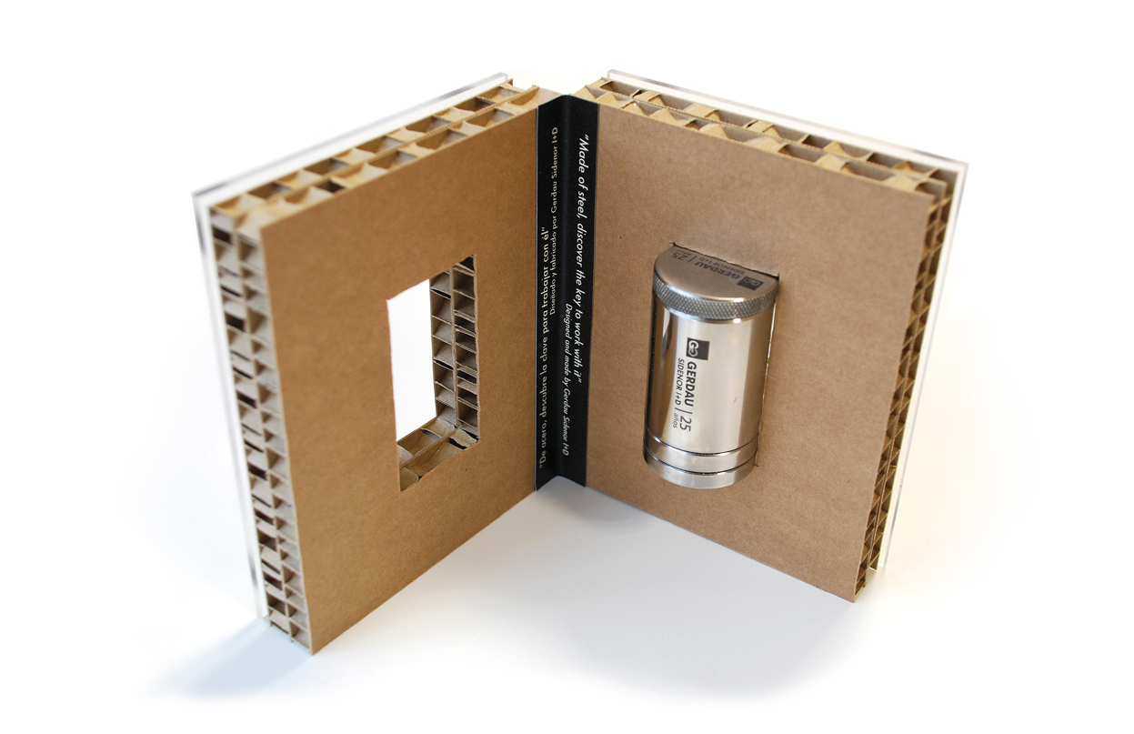 Packaging obsequio evento 25º Aniversario Gerdau Sidenor I+D by aktuart - Mikel Rico - Creative Work - $i