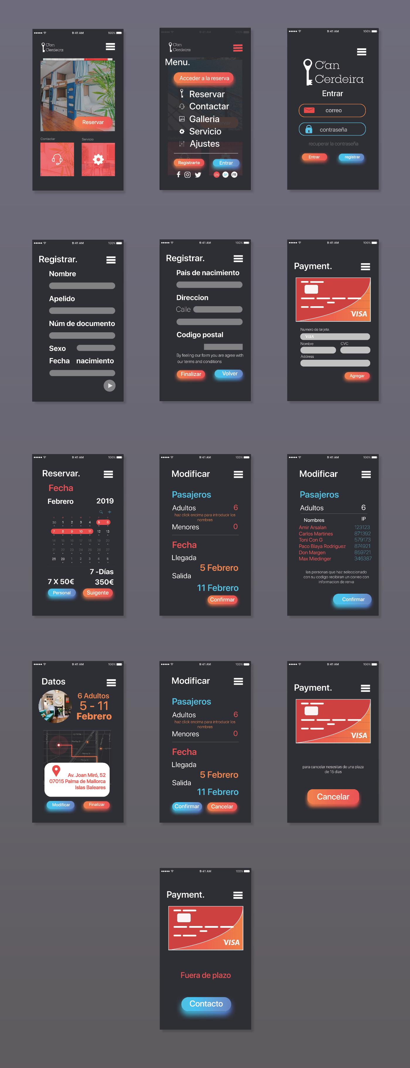 App de reservas by Amir Arsalan - Creative Work - $i