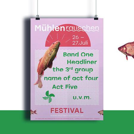 Mühlenrauschen Festival Design