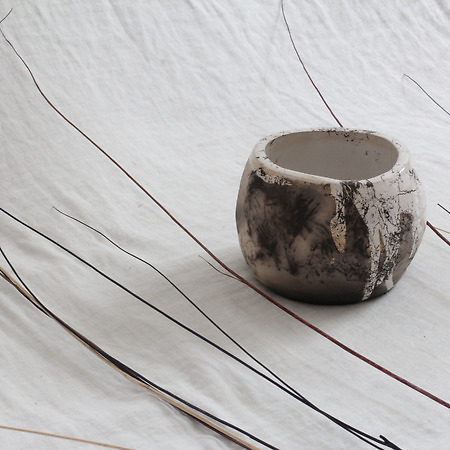 Horse Hair Raku Pottery