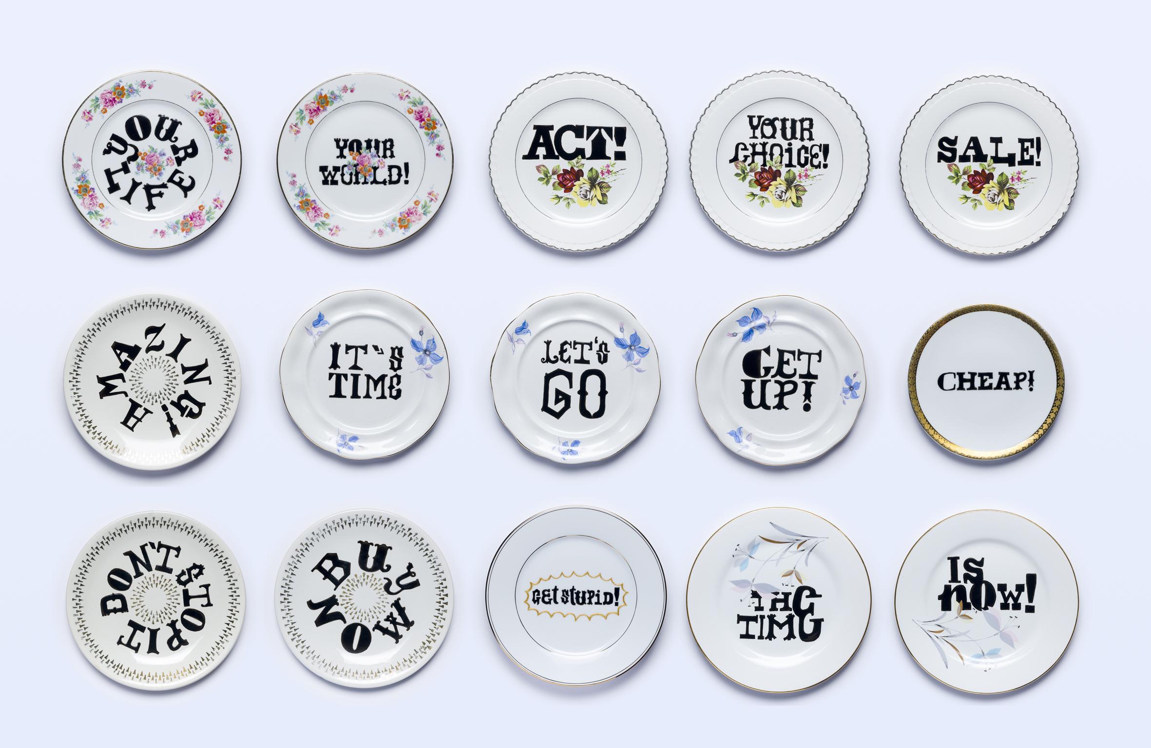 Typography and Tableware by Aintzane De Luna - Creative Work