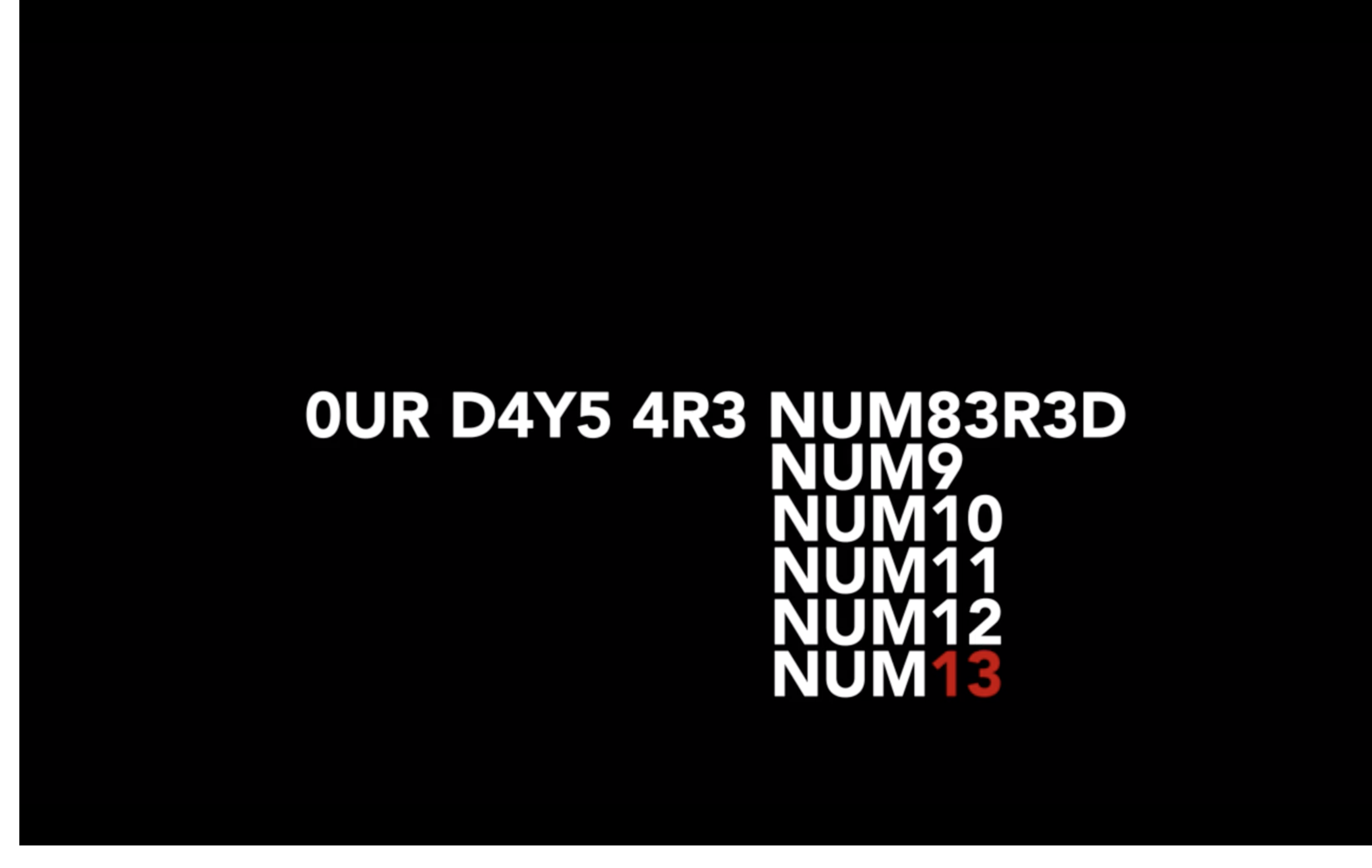 Our days are numbered by Pedro Matos Chaves - Creative Work - $i
