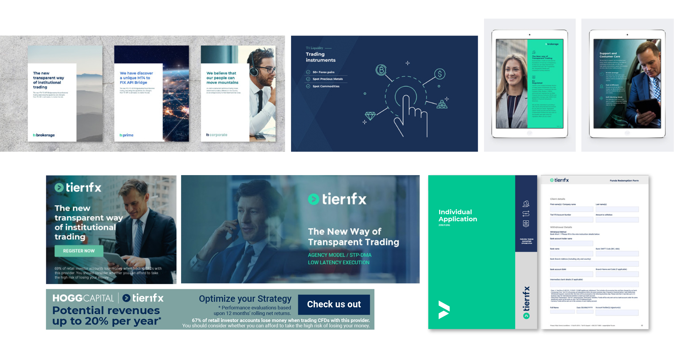 Brand Refresh and communication for Tier1fx Malta by Creatique - Creative Work - $i