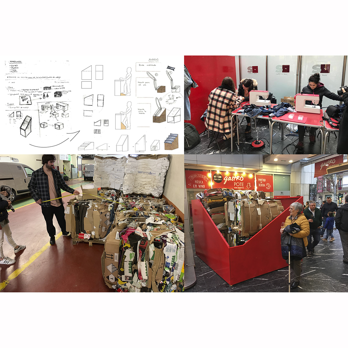 PROYECTO REUSE. MERCADO SAN MARTÍN by Proyecto colectivo - Curso Primero del Título Superior de Diseño Gráfico y de Interiores - Creative Work - $i