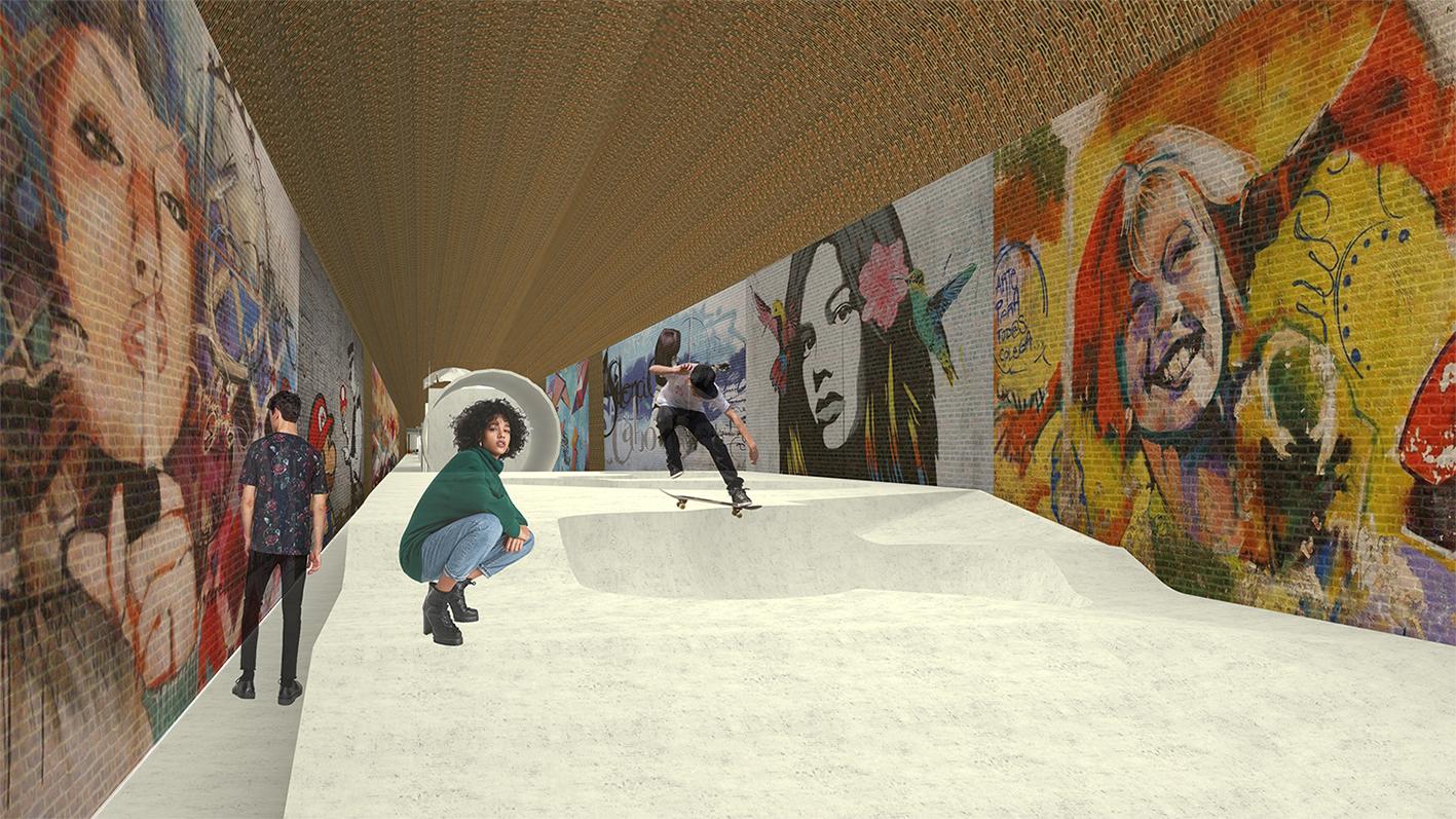 Panieriai skatepark by Ana Blanco de la Fuente - Creative Work - $i