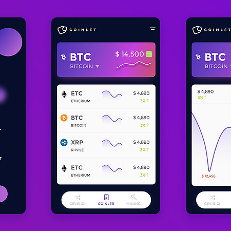 Crypto Coins Application Design
