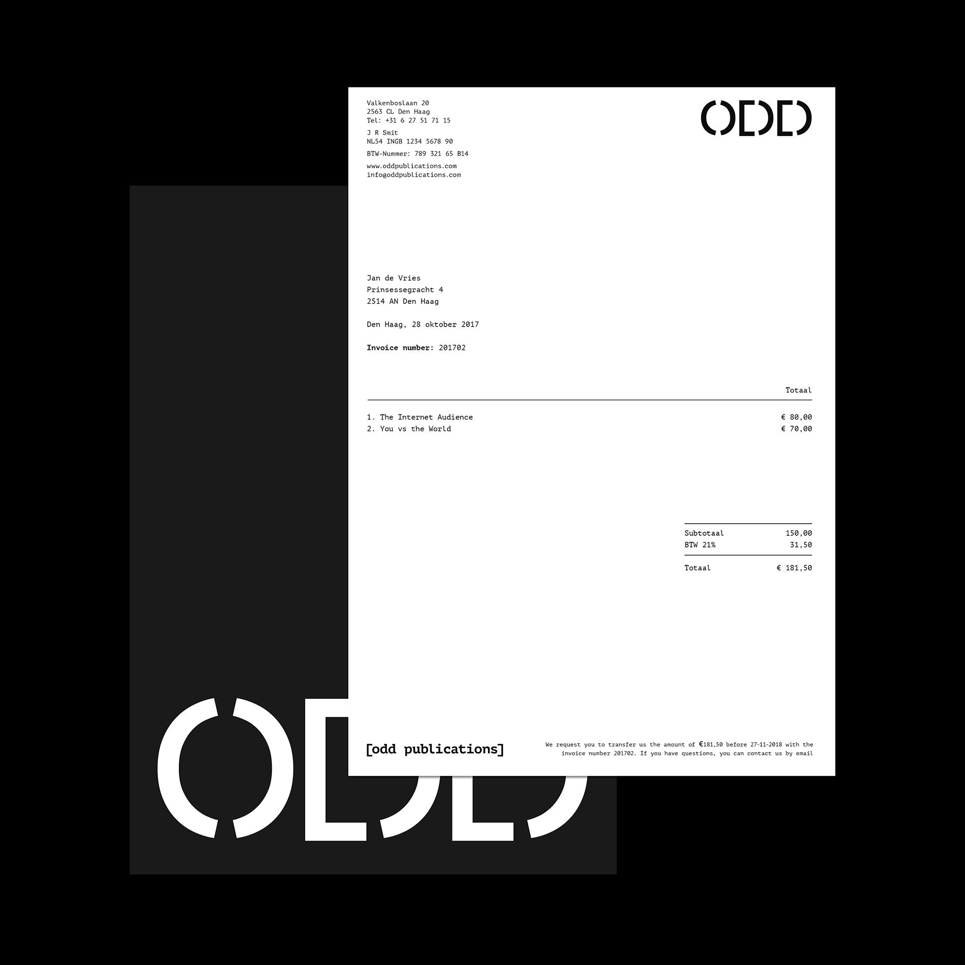 Odd Publications — Identity Design by Jaap Smit - Creative Work