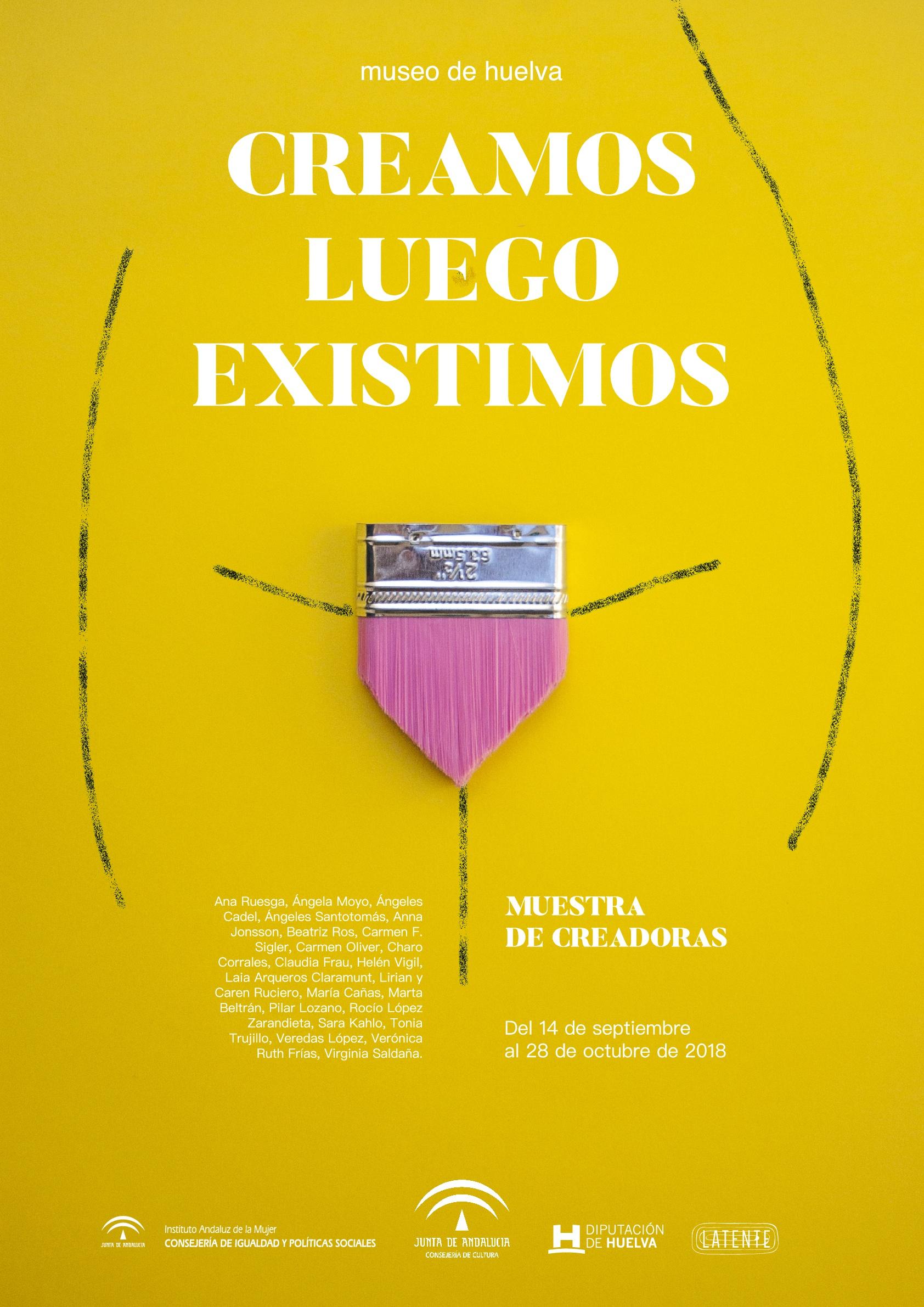 Cartel exposición Creamos luego existimos. by Granada Barrero - Creative Work