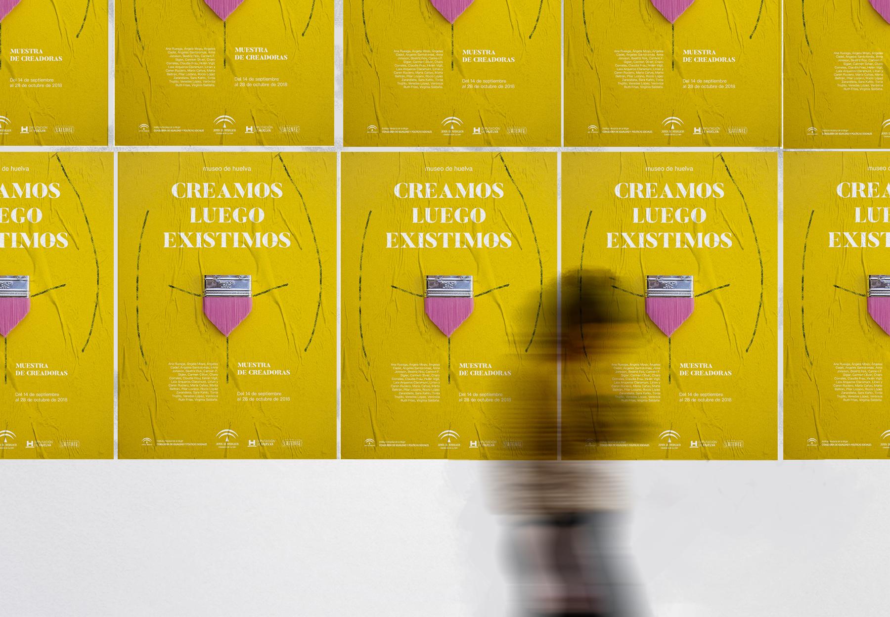 Cartel exposición Creamos luego existimos. by Granada Barrero - Creative Work - $i