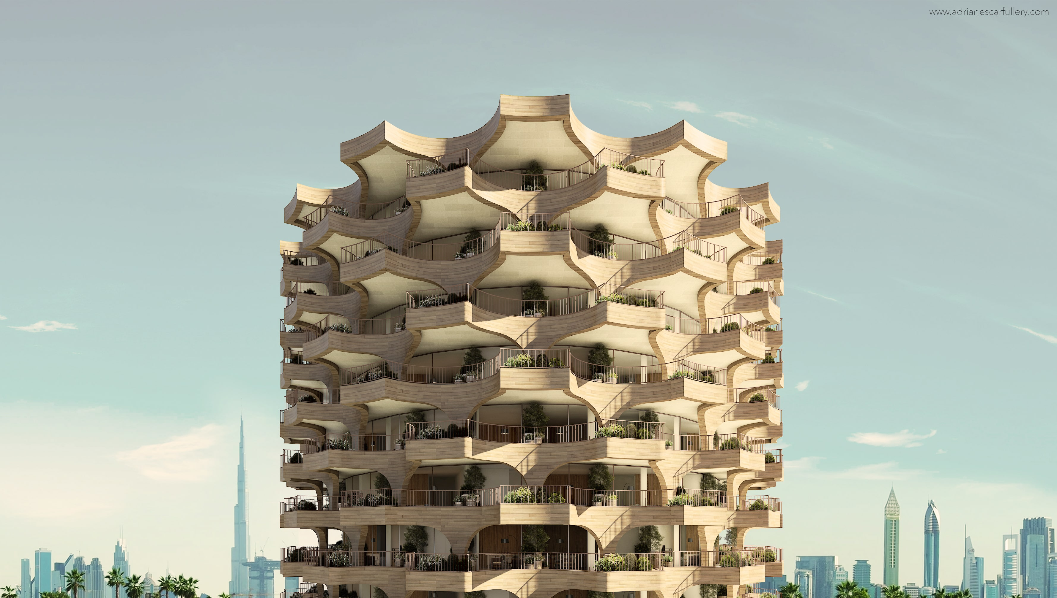 Palm Tower by Adriane Esacrafullery - Creative Work