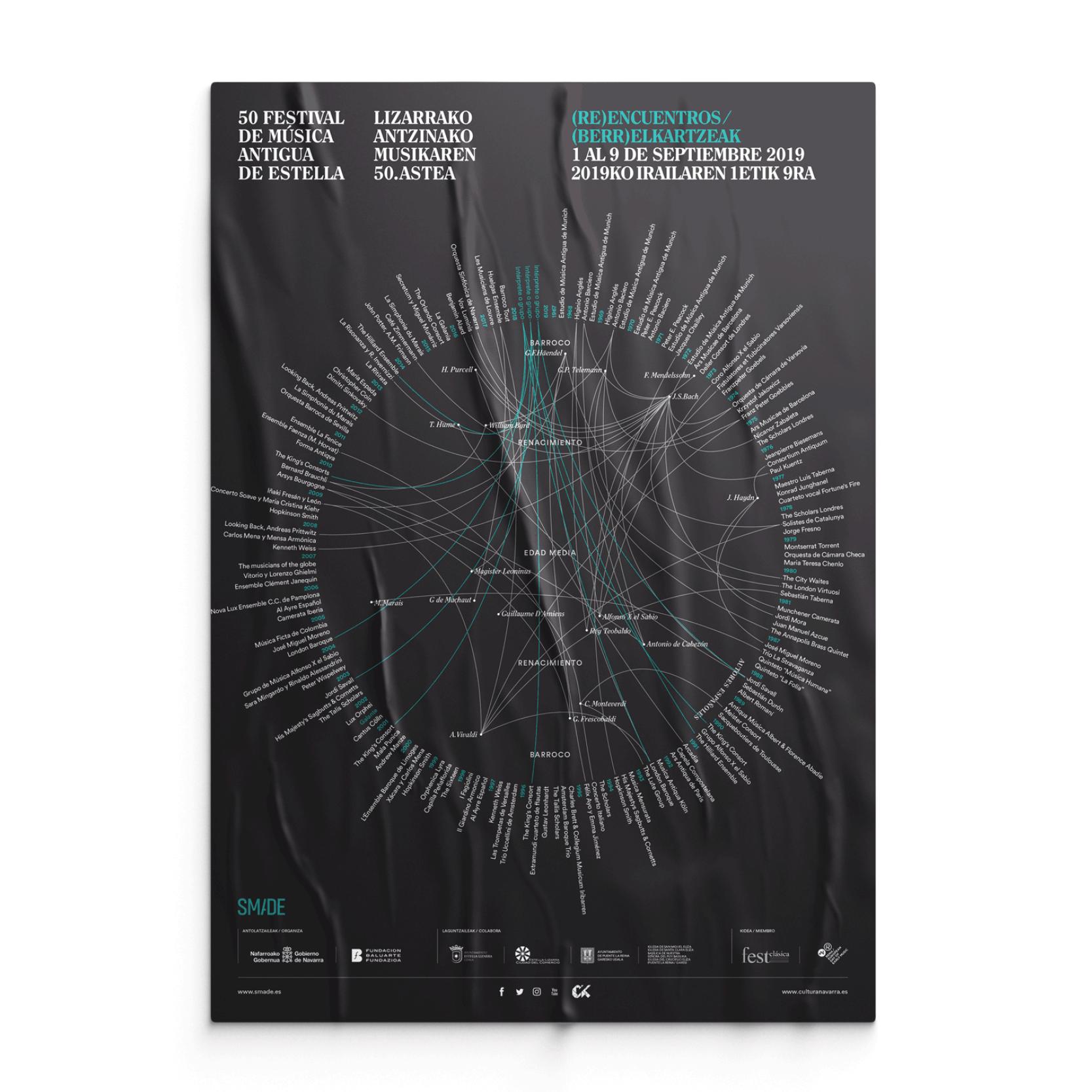 Identidad gráfica de la 50º edición de la Semana de Música Antigua de Estella by Errea Comunicación - Creative Work - $i