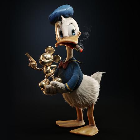 Donald Duck Found A Treasure