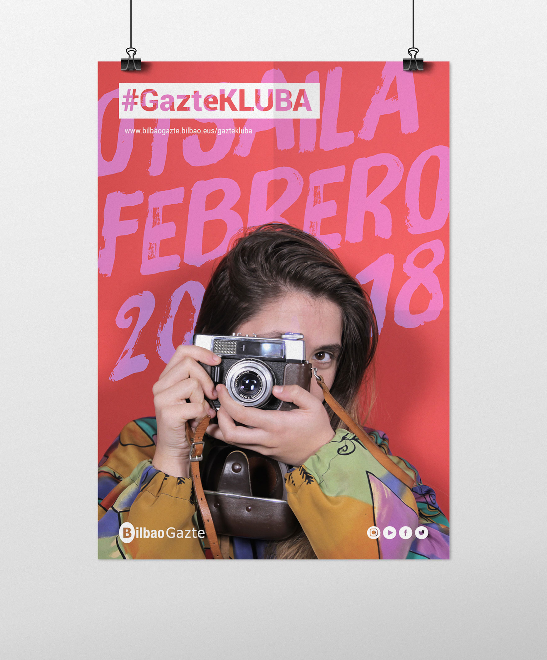 #GazteKLUBA, Branding y campaña de comunicación by Nagore M. Jauregi - Creative Work