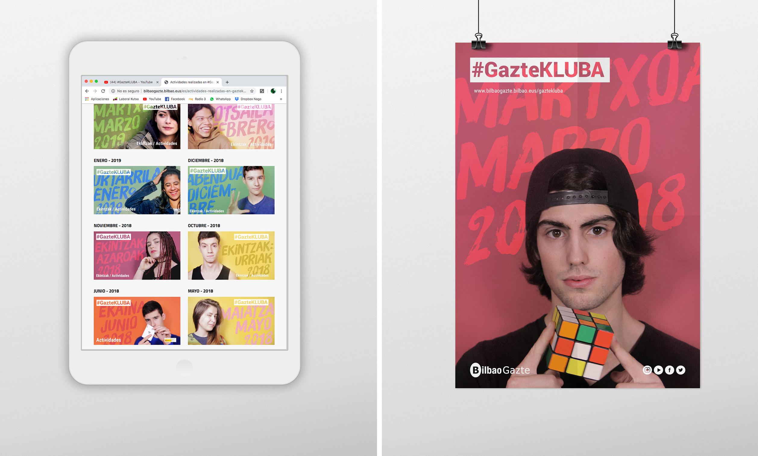 #GazteKLUBA, Branding y campaña de comunicación by Nagore M. Jauregi - Creative Work - $i