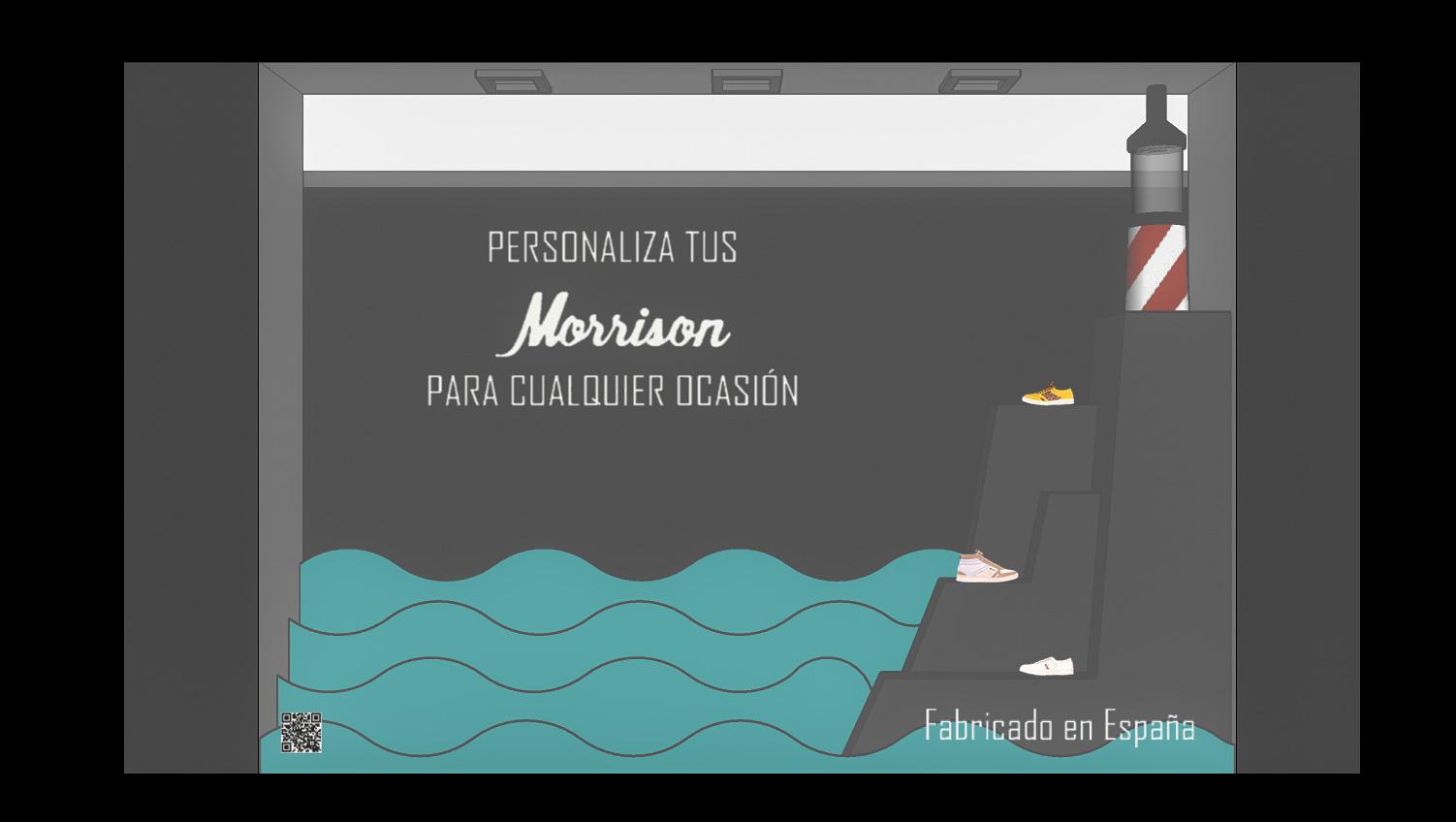 Diseño de escaparate para la marca Morrison Shoes by Esther del Castillo Hernández - Creative Work